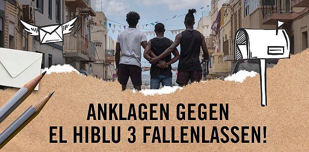 Anklage gegen El Hiblu 3 fallenlassen!