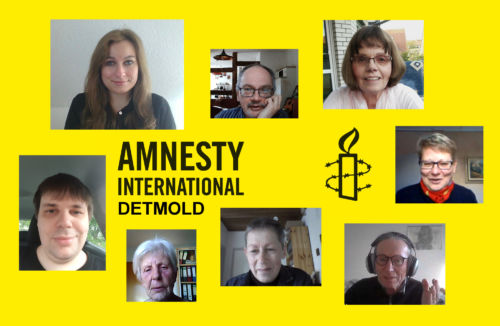 Amnesty-Gruppe Detmold im Juni 2021