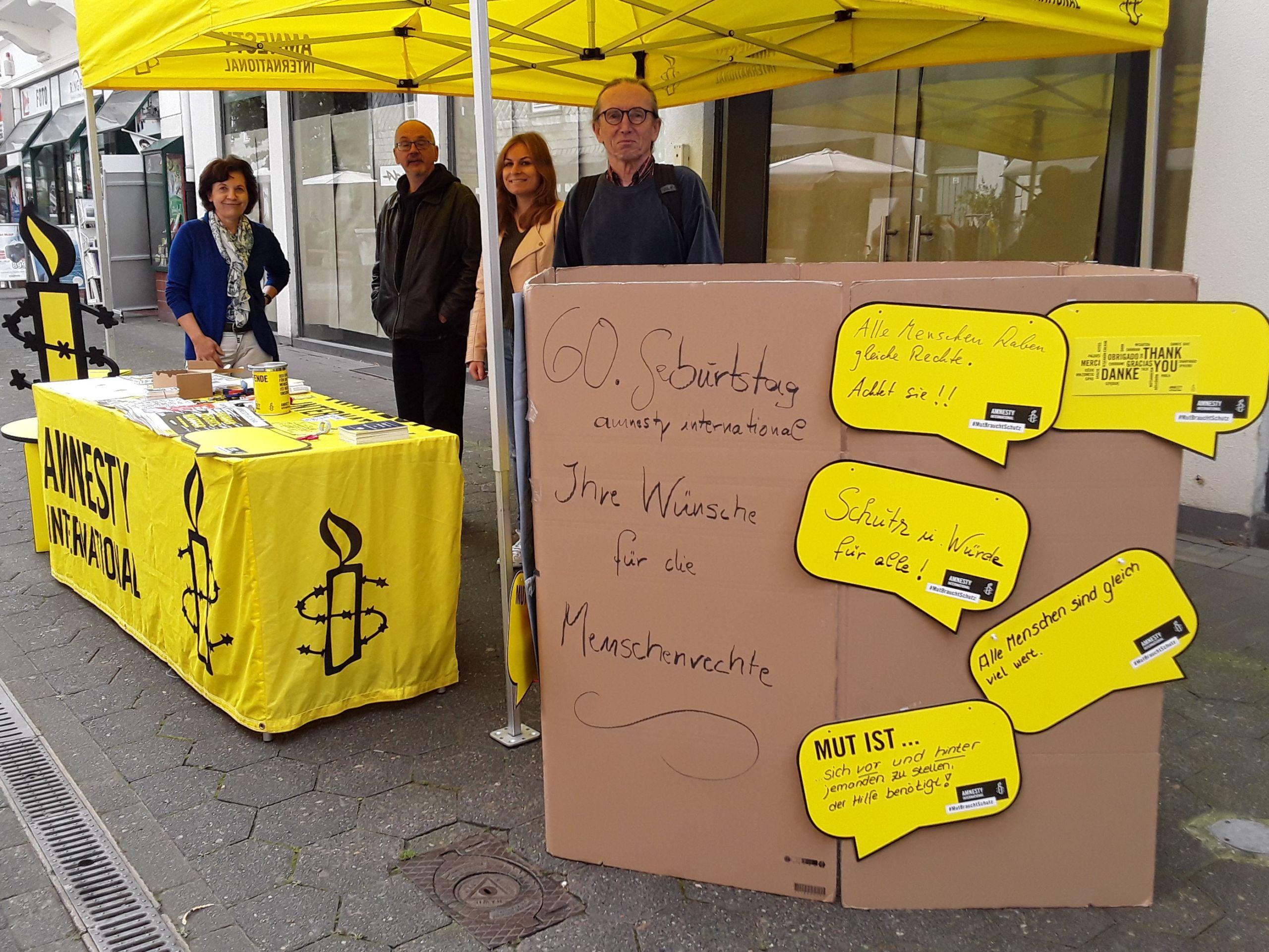 Stand 60 Jahre Amnesty